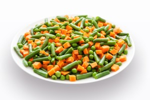 Verduras en un plato. Bonomédico.
